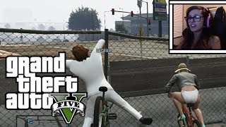 GTA 5 Online Funny Moments - Bike Fails And Throwing Punches w/ Lui Calibre!