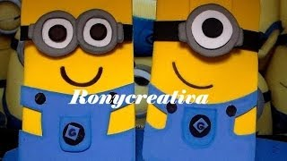 TUTORIAL Y MOLDES DE MINIONS- ESTUCHE DE FOMI /HOW TO MAKE