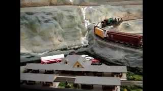 Alaska Railroad N Gauge Train Layout