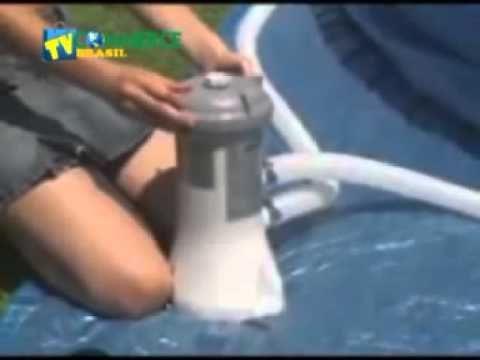 Bomba filtrante para piscinas INTEX 110V modelo Krystal Clear 603 com filtro 2006 Litros