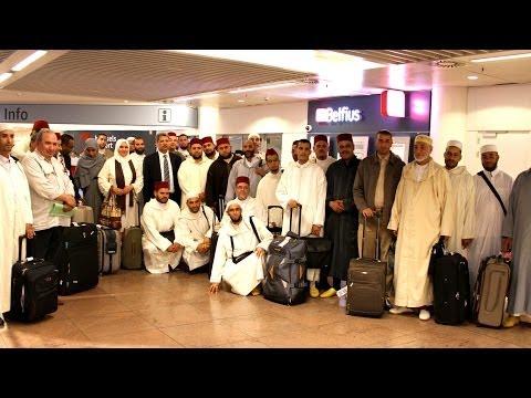 مراسم إستقبال الأيمة والقراء الوافدين من المغرب إلى بلجيكا عن وزارة الأوقاف والشوون الاسلامية للوعض واللإرشاد خلال شهر رمضان 2014
