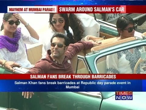 Chaos at Mumbai's Republic Day rally - Salman Khan fans break barricade