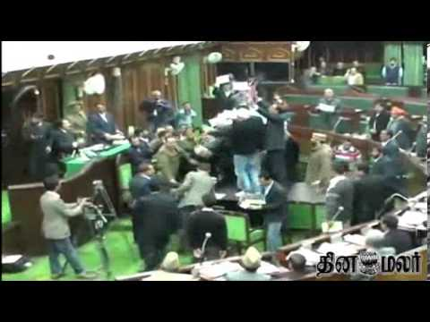 Legislator injured in Jammu and Kashmir assembly ruckus - Dinamalar Feb 11th 2014 Tamil Video News