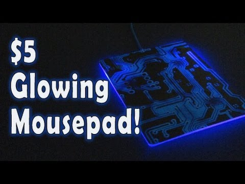 $5 Glowing Mousepad!