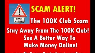 100K Club Scam Simon Johnson's 100K Club Review Show