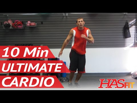 The Ultimate 10 Minute Cardio Workout At Home | High Intensity Aerobic Weight Loss | HASfit