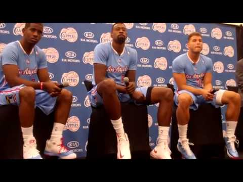Chris Paul, DeAndre Jordan and Blake Griffin - Media Day 2013 Pt  4