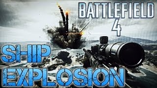 Battlefield 4 Easter Egg | HAINAN RESORT HUGE SHIP EXPLOSION | How and Where to trigger it