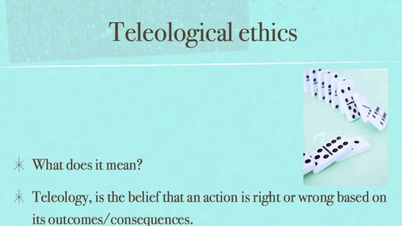 teleological and deontological ethics A deontological, or duty-based  in a strict teleological interpretation,  virtue ethics and formulations of natural law both seek goals of human happiness and.