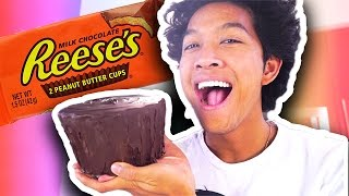 DIY HOW TO MAKE Giant Reeses Cup!!!