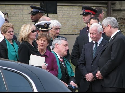Scenes from State Funeral of Jim Flaherty in Toronto