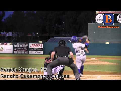 ANGELO SONGCO, RANCHO CUCAMONGA QUAKES, HR AT LAKE ELSINORE
