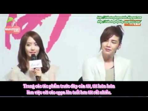 VIETSUB 120322 SNSD YoonA Love Rain Press Conference Cuts