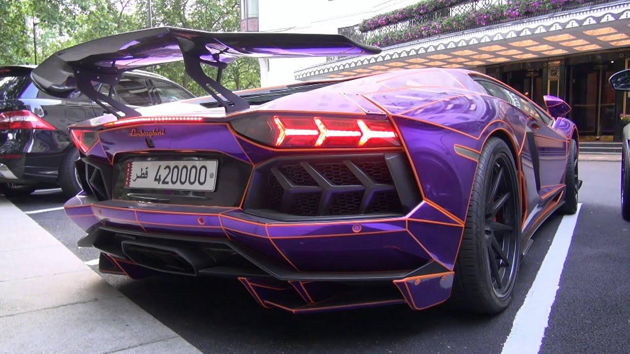 crazy chrome purple lamborghini aventador with lb performance kit and - Lamborghini Aventador Chrome Purple