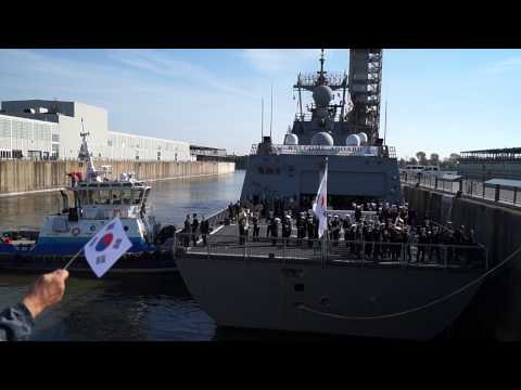 South Korean Destroyer ROKS Dae Jo Yeong Berths In Old Port Of Montreal 13