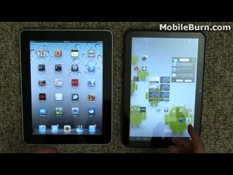 Apple iPad vs. Motorola XOOM Android Honeycomb tablet