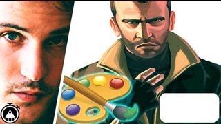 GTA 5 How To Draw Niko Bellic With Photoshop! SPEED