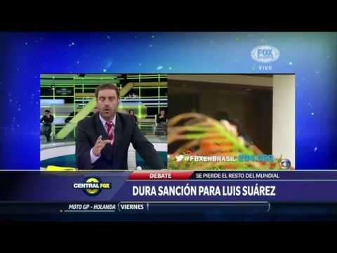 Maxi Palma Central Fox Apoya a Uruguay y Luis Suárez