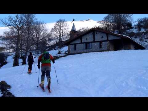 Ascensión y descenso con esquís de Butreaitz y Arkaitz