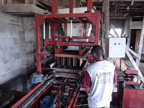 Máquina de blocos Hidráulica - Foco