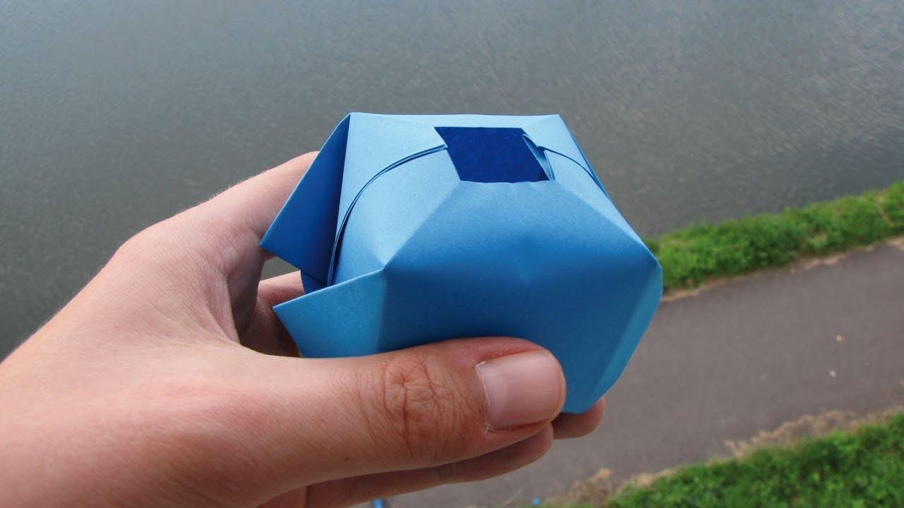 Comment faire une bombe eau en papier origami fun youtube - Comment faire des origamie ...