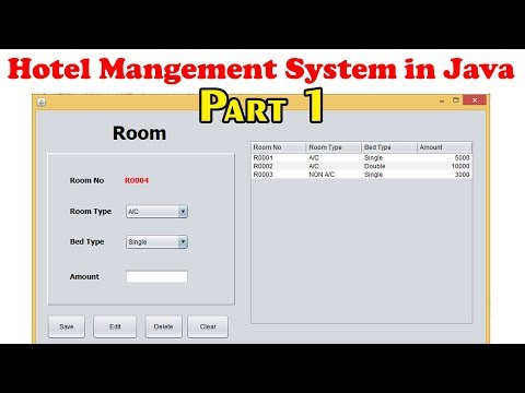 Hotel Management System Step by Step in Java Part 1