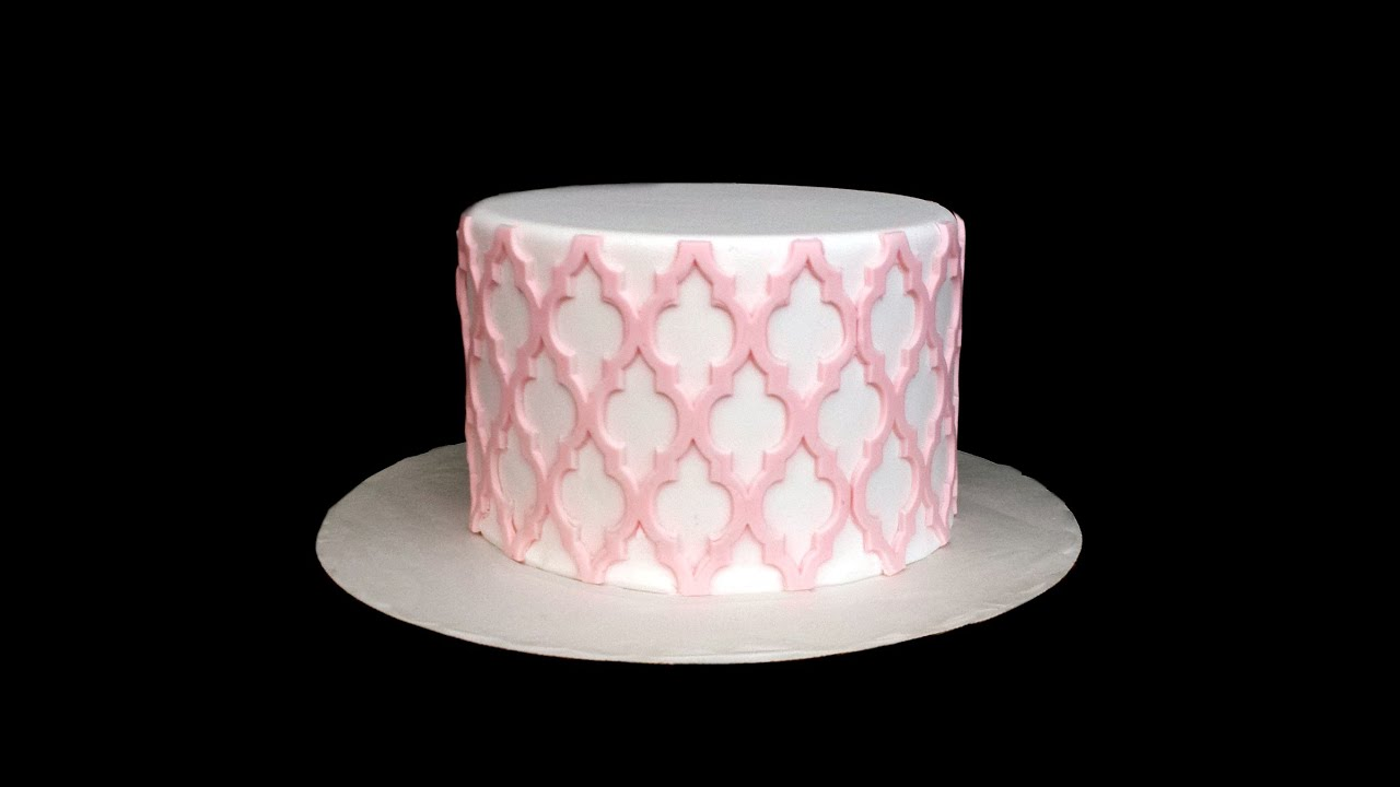 Easy Design For Cake : Silicone Onlays--Intricate Cake Designs Made Easy - YouTube