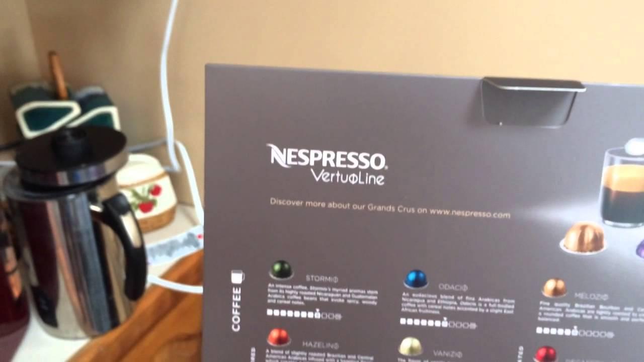 how to use a nespresso vertuoline