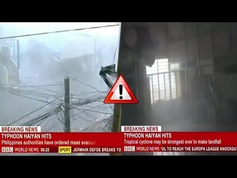 Super typhoon Haiyan yolanda Philippines - Incredible footages storm #YolandaPH November 2013
