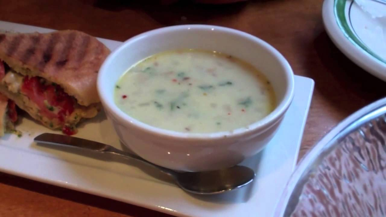 Olive Garden Restaurant Lunch Chicken Caprese Zuppa Toscana Etc Youtube