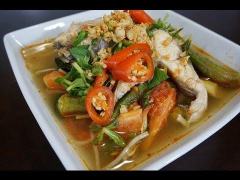 Catfish Sour Soup  - Canh Chua Cá Bông Lau