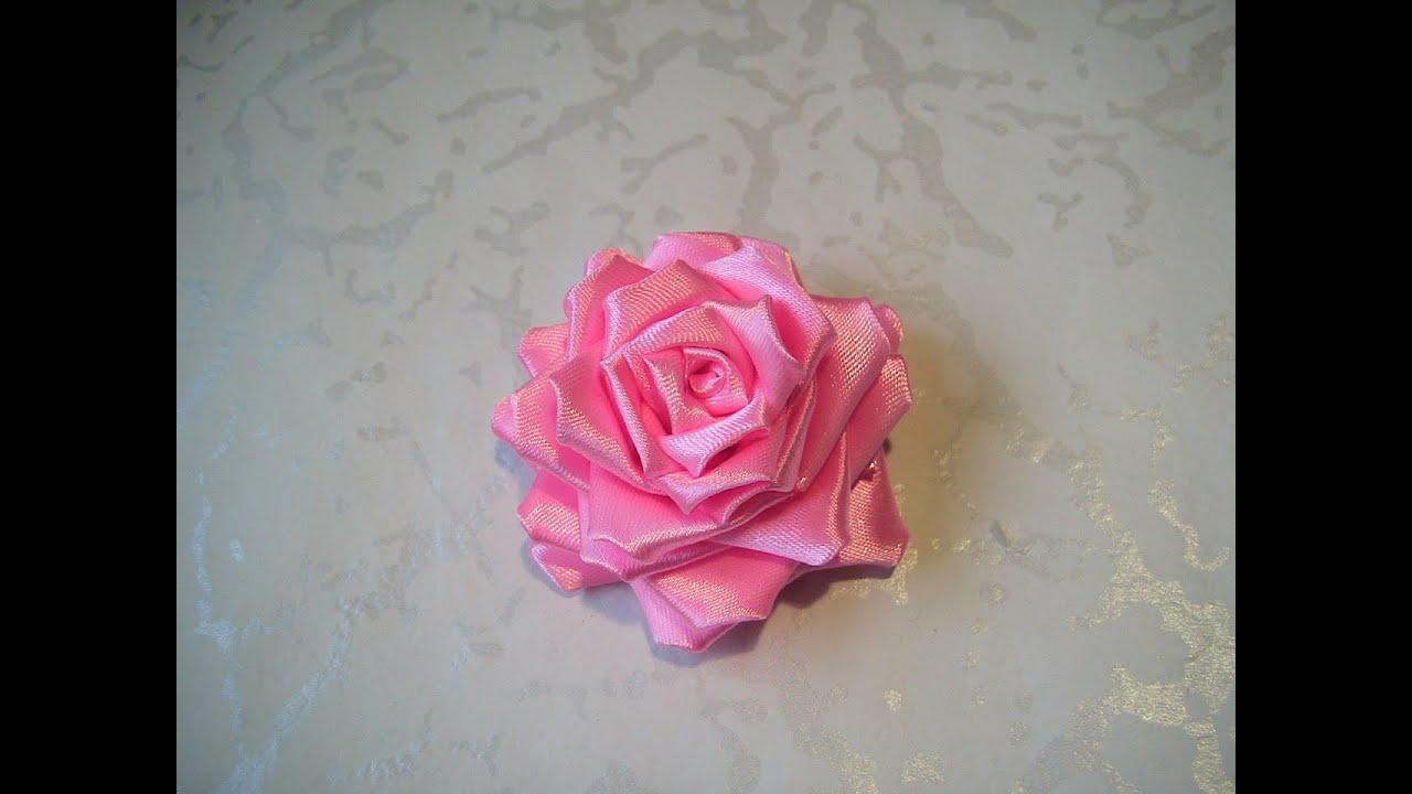 Розы из лент своими руками фото