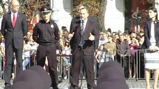 Голова Харківської ОДА Ігор Райнін звернувся з напутніми словами до працівників патрульної поліції Харкова
