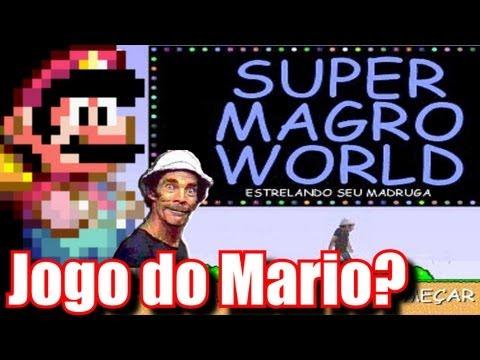 Seu Madruga em Super Mario World - Super Magro World (PC) - (Paródia de Mário?)