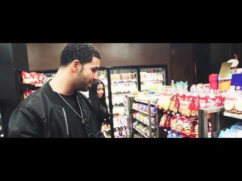 Nicki & Drake on the set of Usher's