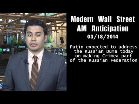 AM Anticipation: Futures dip ahead of Fed, Crimean situation lingers