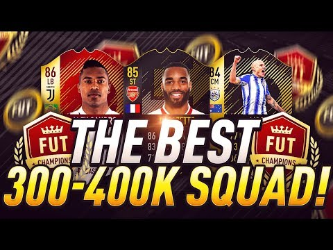 THE BEST OVERPOWERED 300K TO 400K HYBRID FUT CHAMPS SQUAD BUILDER!! 🏆- FIFA 18 ULTIMATE TEAM