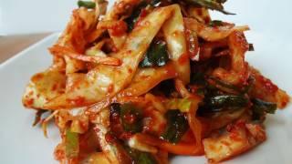 Emergency kimchi (yangbaechu-kimchi: 양배추김치)