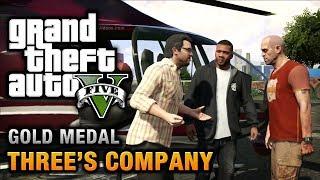 GTA 5 Mission #24 Three's Company [100% Gold Medal