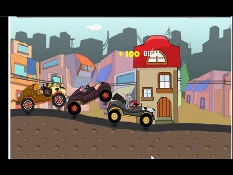 mèo tom lái xe oto/tom và jerry đua xe ô tô/ mèo tom đua xe oto siêu cấp
