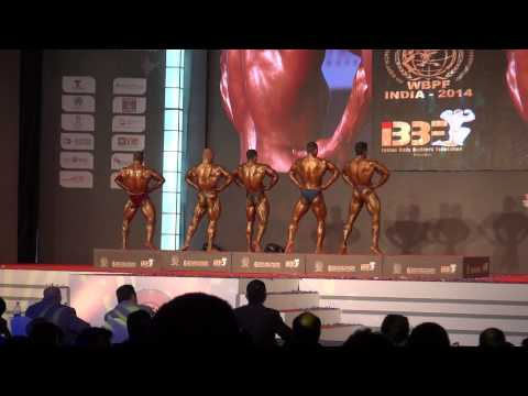WBPF world bodybuilding championships 2014 Mumbai India -80kg Final