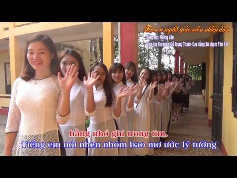 [Karaoke] Bài ca người giáo viên nhân dân Karaoke. Sáng tác Hoàng Vân