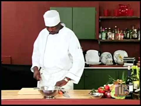 Grenada: Cooking with Carlos  Chicken Salad with home made dressing 1 of 3