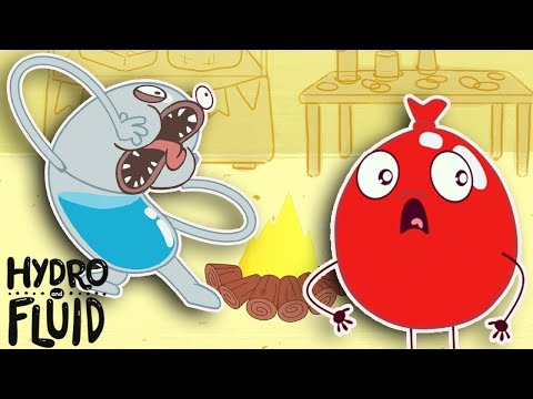 Fearful Balloons | HYDRO and FLUID | Funny Cartoons for Children