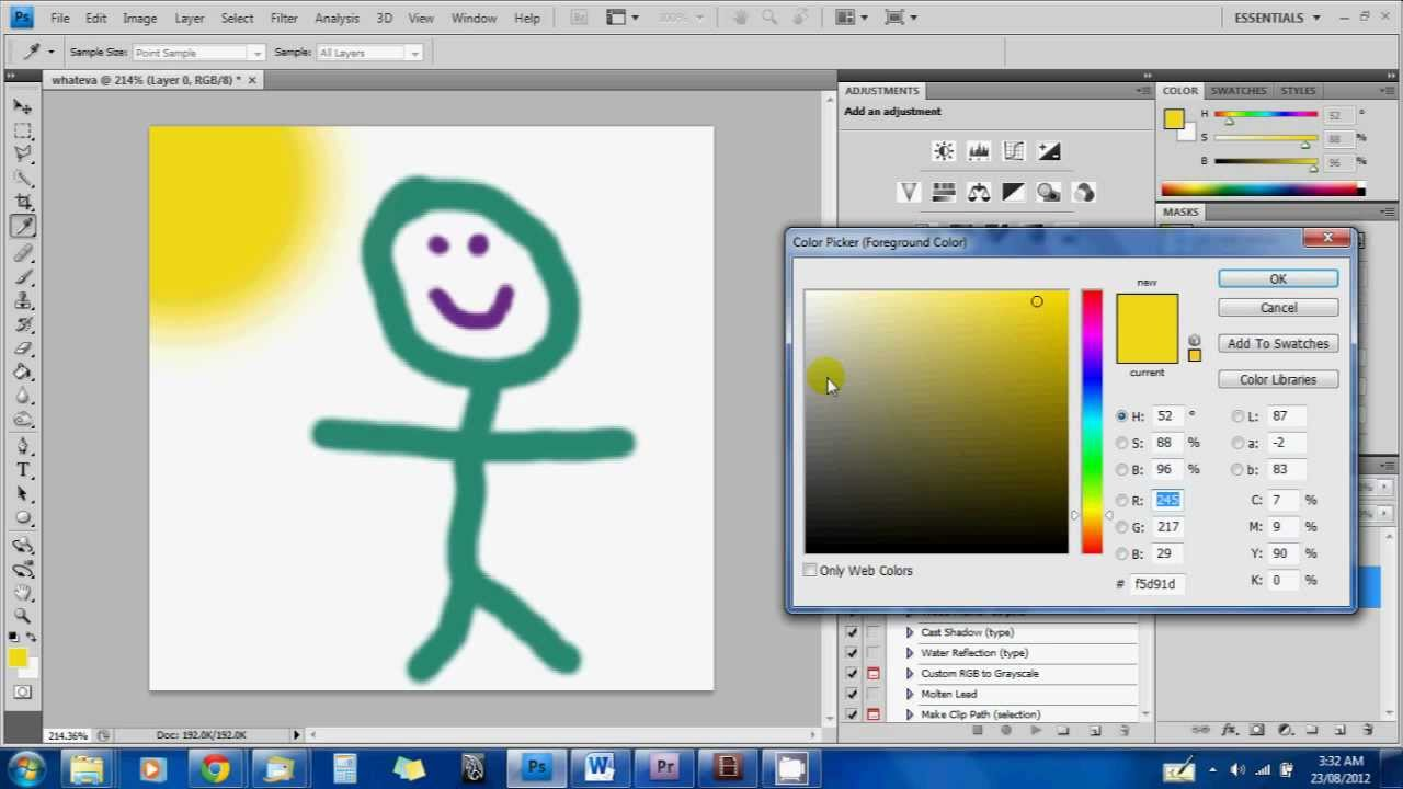 how to draw a figure in photoshop