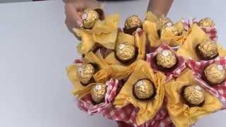 كيفية عمل بوكيه من الشوكولاته