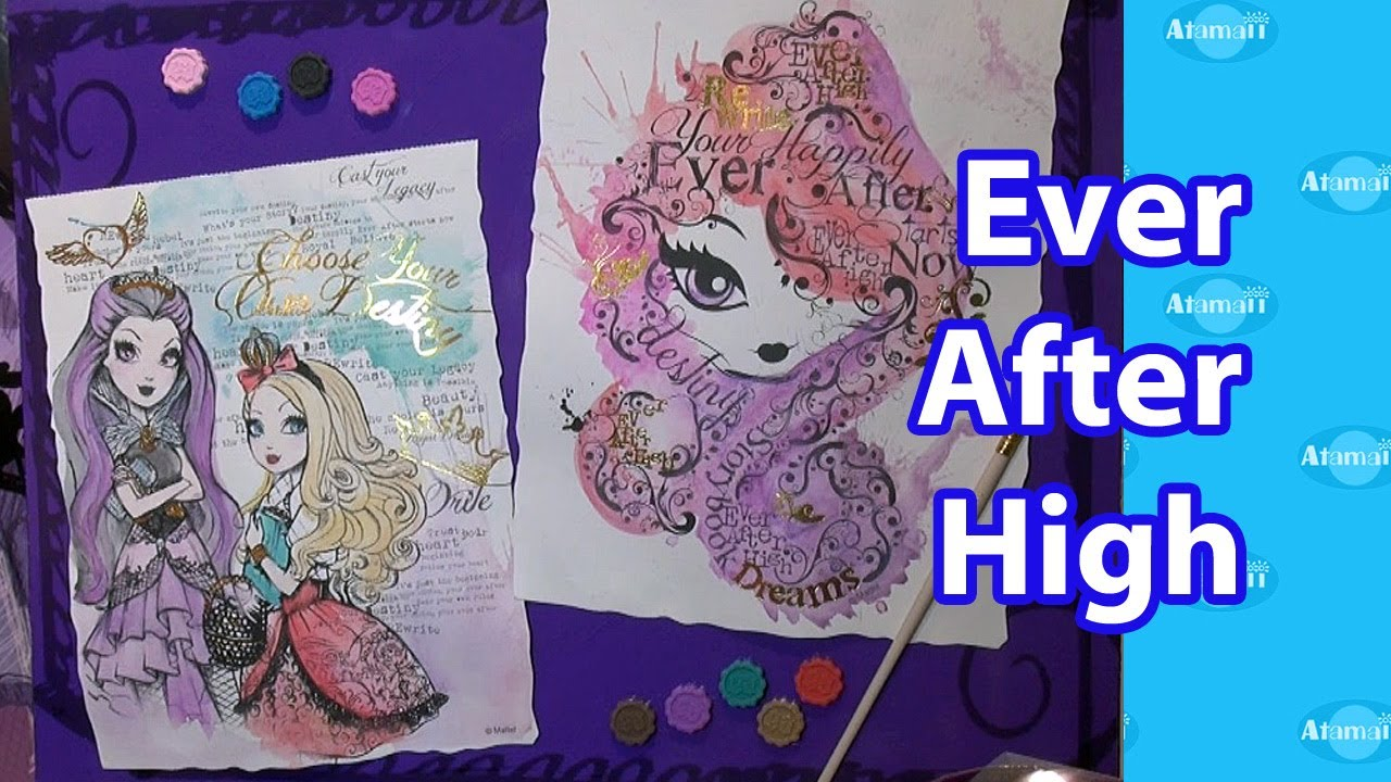 ever after high craft kits toy fair preview youtube