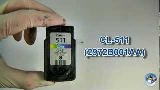 How To Refill Canon CL-511 Colour Ink Cartridge