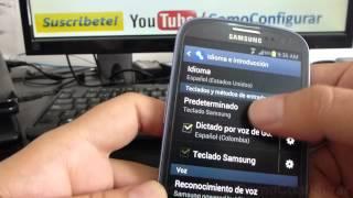 Como Configurar Teclado En Samsung Galaxy S3 Español