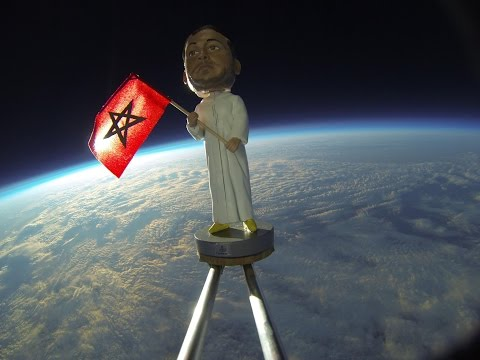 راية المغرب تصل الفضاء